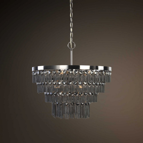 Carbonado 6 Lt. Pendant by Uttermost
