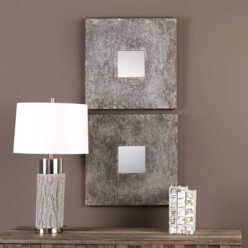 Altha Square Mirrors S/2 by Uttermost