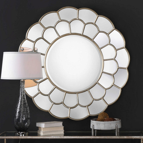 Dahlia Round Mirror by Uttermost