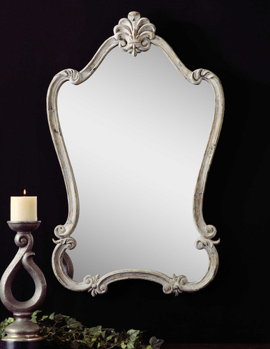 Walton Hall White Vanity Mirror by Uttermost
