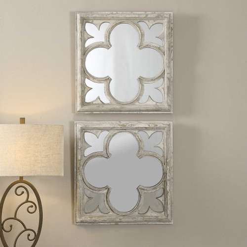Vellauni Square Mirrors S/2 by Uttermost