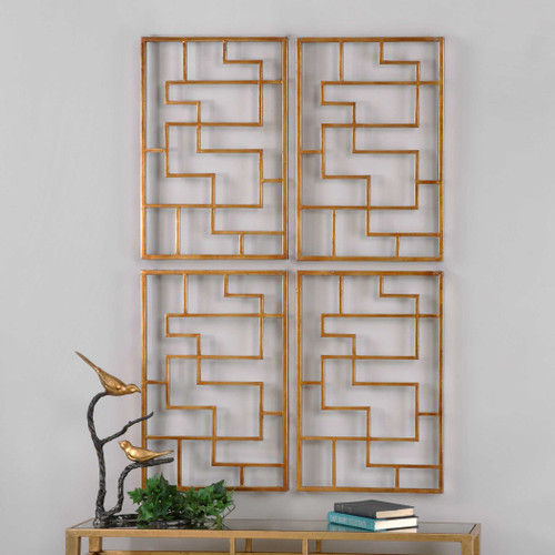 Quaid Metal Wall Panels S/2 by Uttermost