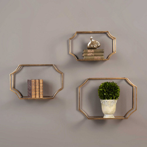 Lindee Wall Shelves S/3 by Uttermost