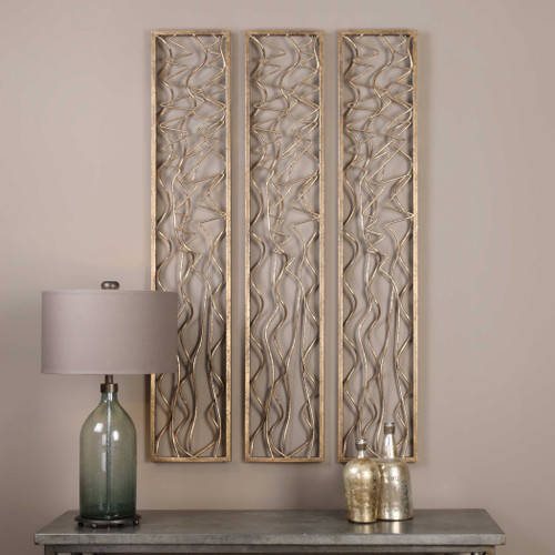 Scribble Metal Wall Panel by Uttermost