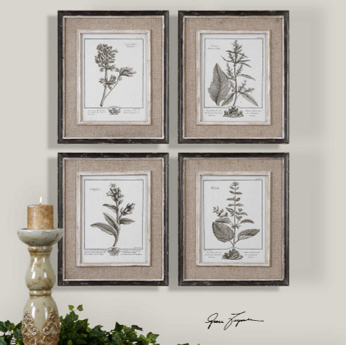 Casual Grey Study Framed Prints S/4
