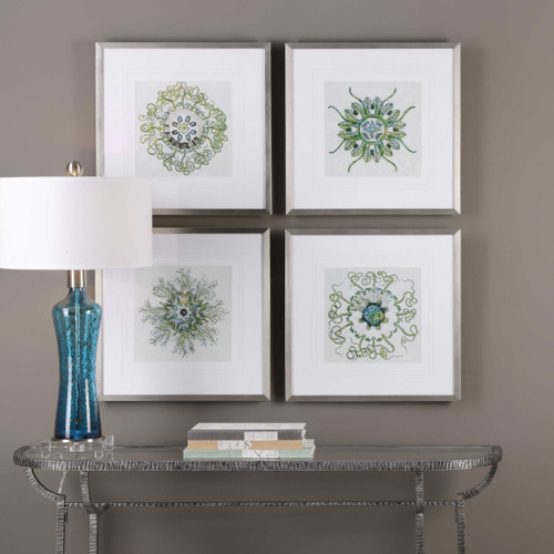 Organic Symbols Framed Prints S/4 by Uttermost