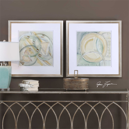Abstracts Framed Prints S/2 - by Uttermost