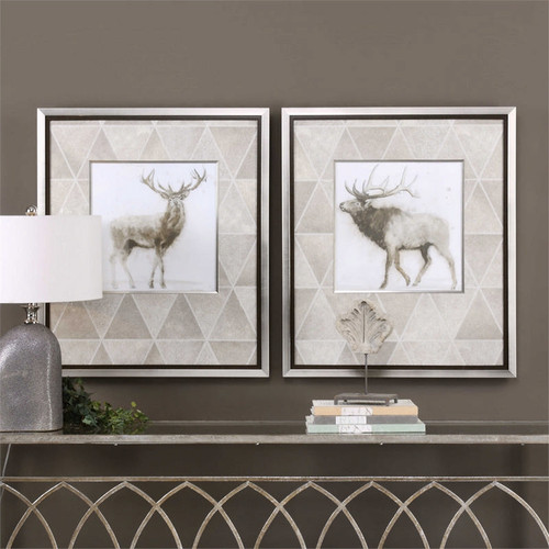 Stag and Elk Set/2 - Framed Artwork a Prints Framed by Uttermost