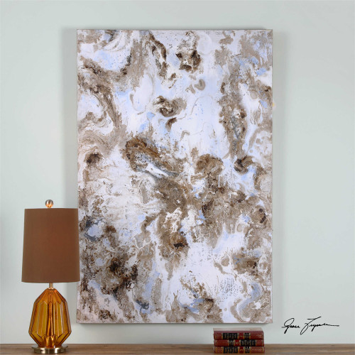 Dust Storm Hand Painted Canvas - by Uttermost