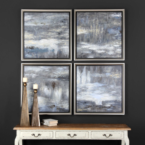 Shades Of Gray Hand Painted Canvases S/4 by Uttermost