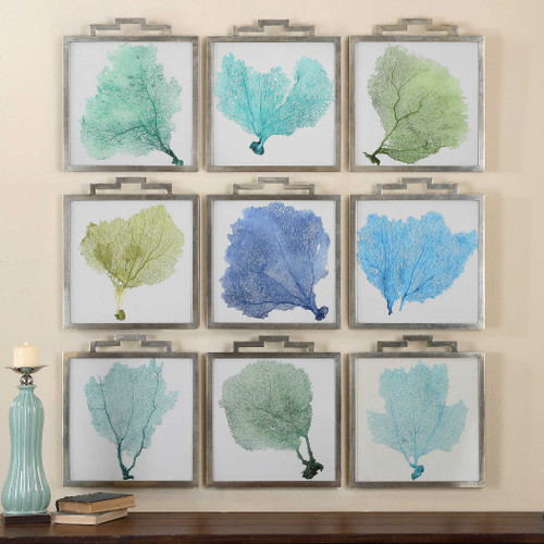 Sea Fans Framed Prints S/9 by Uttermost