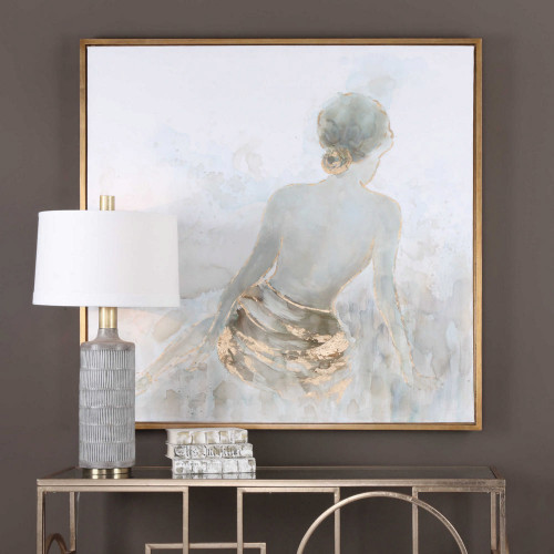 Gold Highlights Hand Painted Canvas by Uttermost