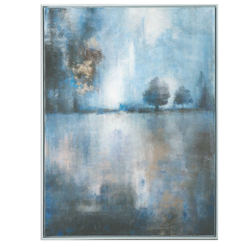 Lake At Dusk Hand Painted Canvas by Uttermost