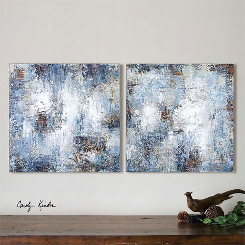 Stormy Day Set/2 - Hand Painted Artwork a Paintings by Uttermost