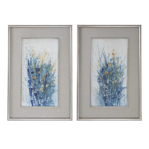 Indigo Florals Framed Prints S/2 by Uttermost