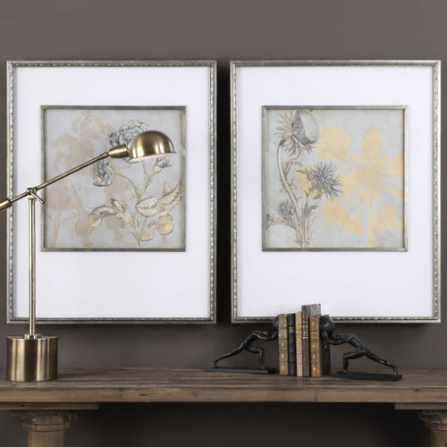 Shadow Florals Framed Prints S/2 by Uttermost