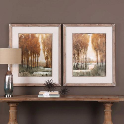 Custom Golden Forest Framed Prints S/2 by Uttermost