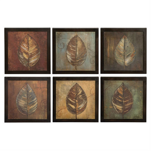 New Leaf Panels Set/6 - Oil Reproduction Artwork