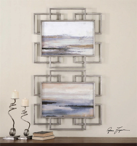Gray Mist Set/2 - Oil Reproduction Artwork a Paintings by Uttermost