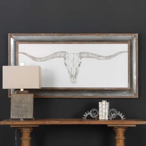 Western Skull Mount Framed Print by Uttermost