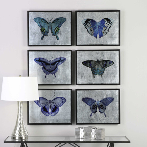 Vibrant Butterflies Framed Prints S/6 by Uttermost