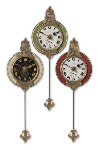 Monarch Wall Clocks S/3 by Uttermost