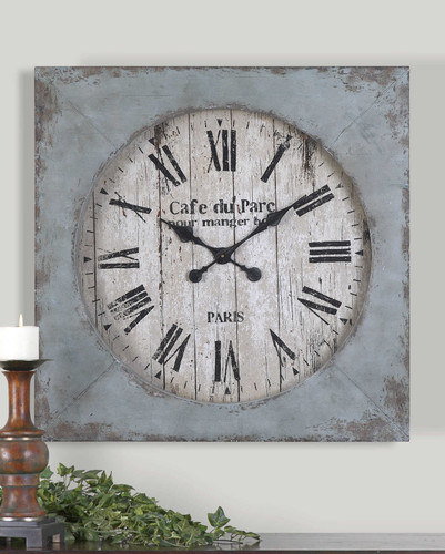 Paron Wall Clock by Uttermost