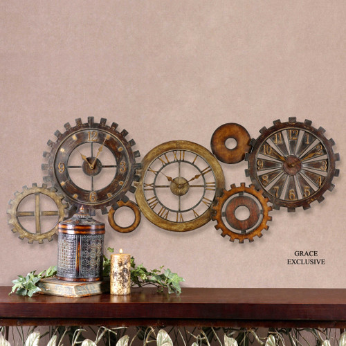 Spare Parts Wall Clock by Uttermost