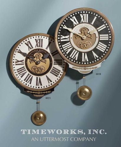 Vincenzo Bartolini Cream Wall Clock by Uttermost
