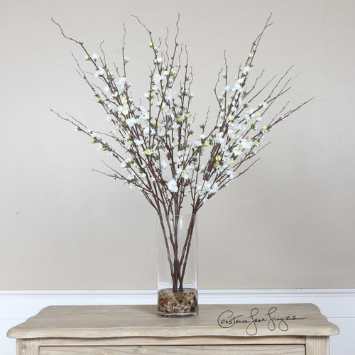 Quince Blossoms Silk Centerpiece by Uttermost