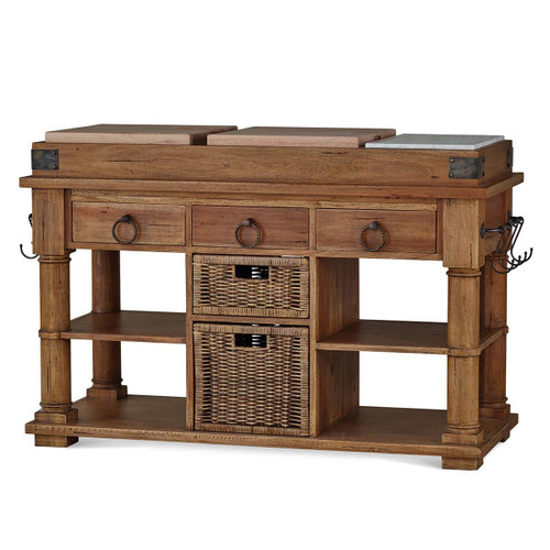 Courtland Kitchen Island Large - Size: 94H x 140W x 61D (cm)