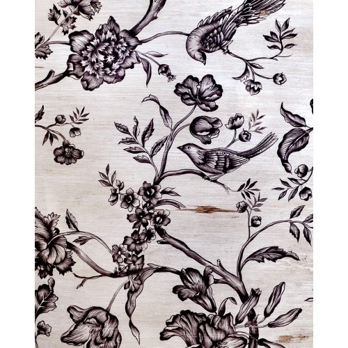 A177 Black Bird & Floral by Bramble Co