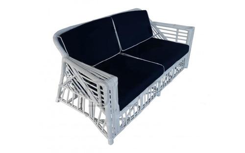 Ballina 2.5 Seater Sofa - White/Navy