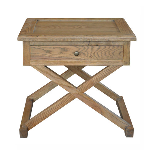 Xavier Side Table - Weathered Oak