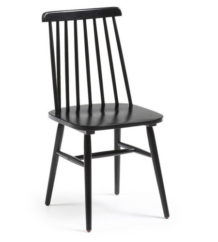 Kristie Wooden Chair - Black