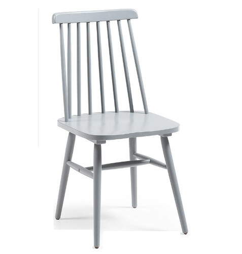 Kristie Wooden Chair - Light Grey