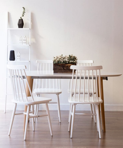 Kristie Wooden Chairs - White