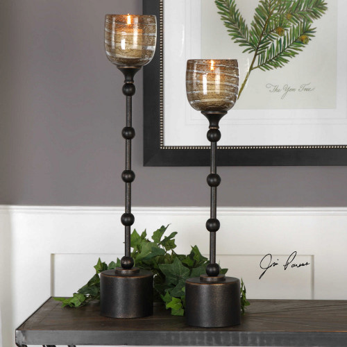 Lula Candleholders S/2 by Uttermost