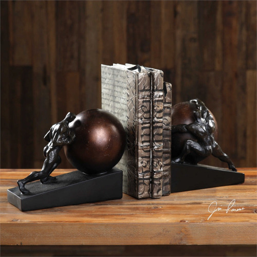Weight of the World Bookends Set/2 by Uttermost