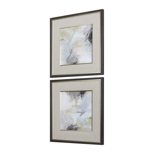Abstract Vistas Framed Prints S/2
