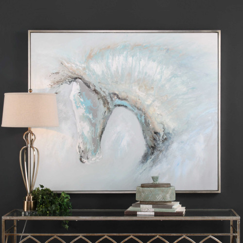 Ice Illusion Hand Painted Canvas by Uttermost