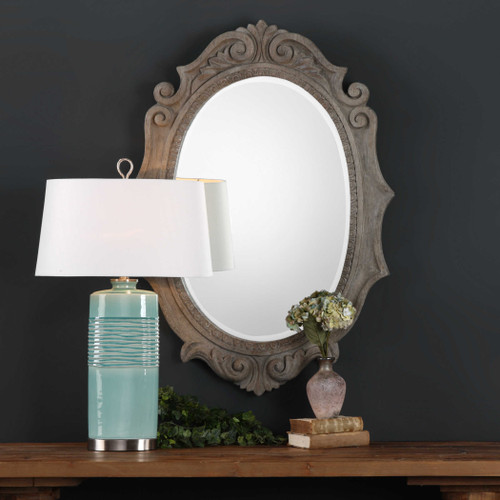 Serafina Oval Mirror by Uttermost