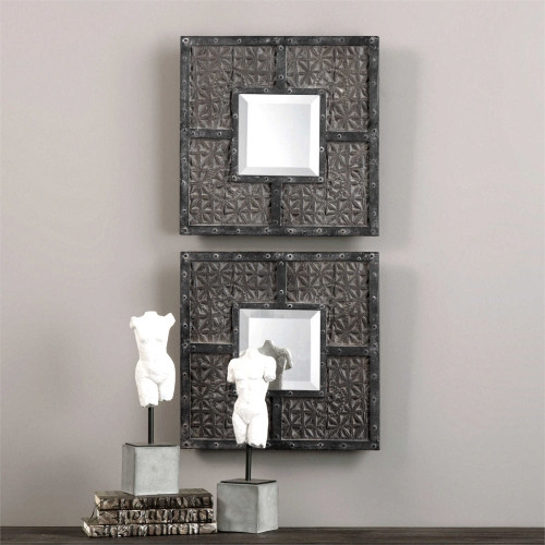 Gaiana Mirror Squares Set/2 by Uttermost