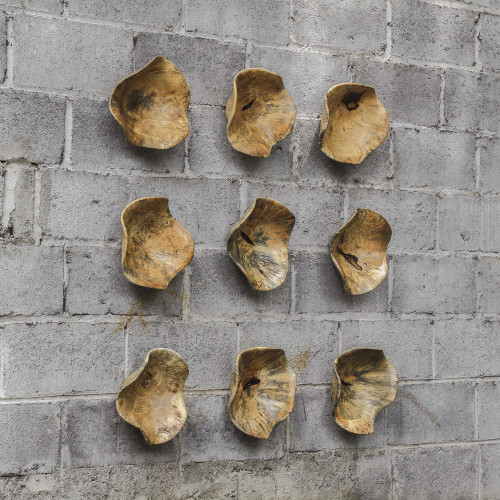 Tamarine Wood Wall Decor S/3