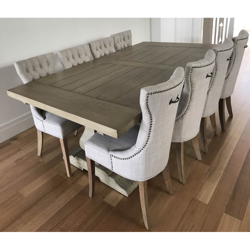 Provincial Trestle Dining Table 3m - Dining Setting