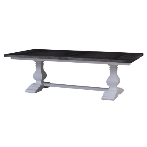Provincial Trestle Dining Table 240cm - Size: 76H x 244W x 102D (cm)
