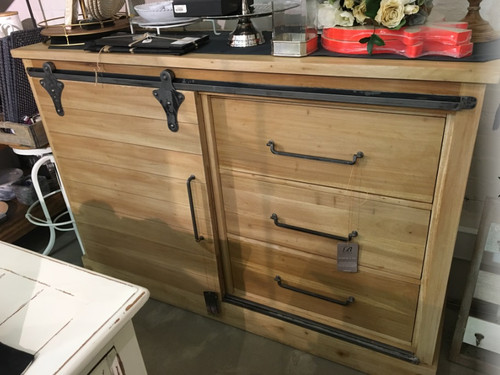 Sonoma Buffet with Sliding Door - Vintage Birch - Size: 107H x 157W x 46D (cm)