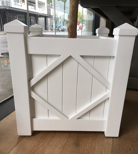 Planter box - White 45D x 45W x 48H (cm)