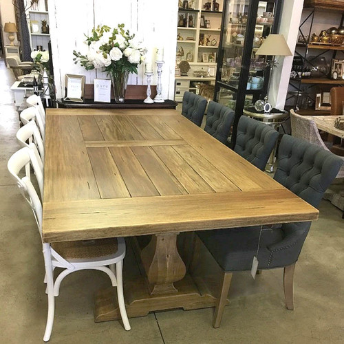 Provincial Trestle Dining Table 3m - Antique French Oak