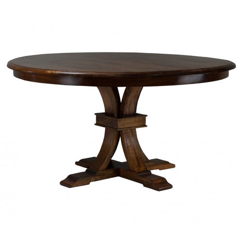 Florida Round Dining Table - Distressed Mango Teak